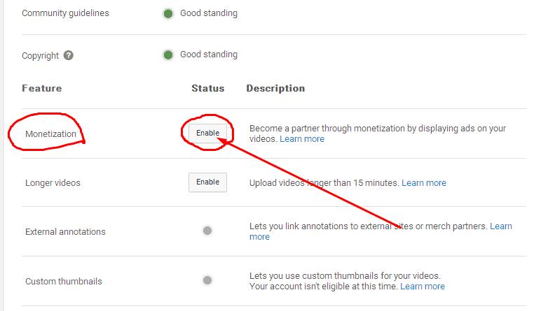 """अनेबल """"enable"""" विकल्प पर क्लिक करें"""