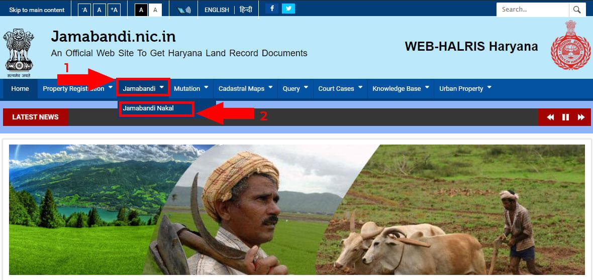 1. Jamabandi Nakal home page